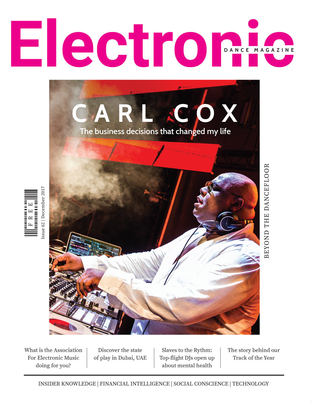 Electronic Music Magazine Cover - Carl Cox